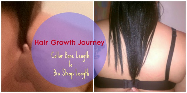 Hair Growth Journey Collar Bone Length to Bra Strap Length