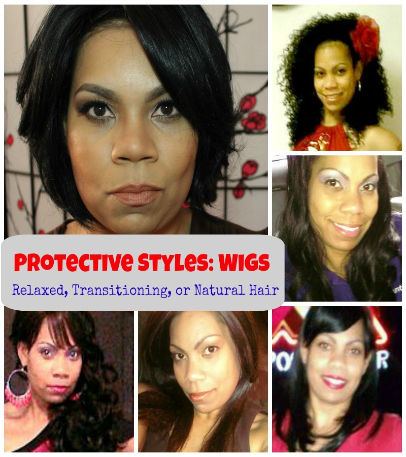 Protective Styles with Wigs: Collage of Wigs Worn