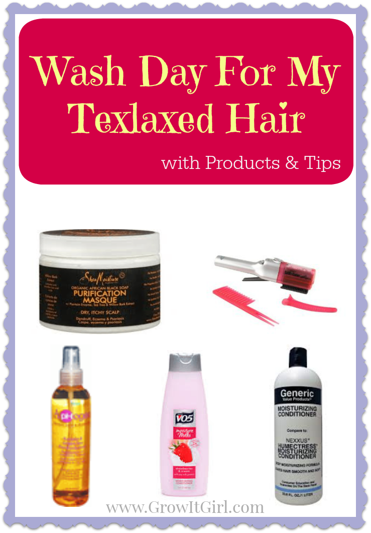 Wash Day for Texlaxed Hair with Products and Tips