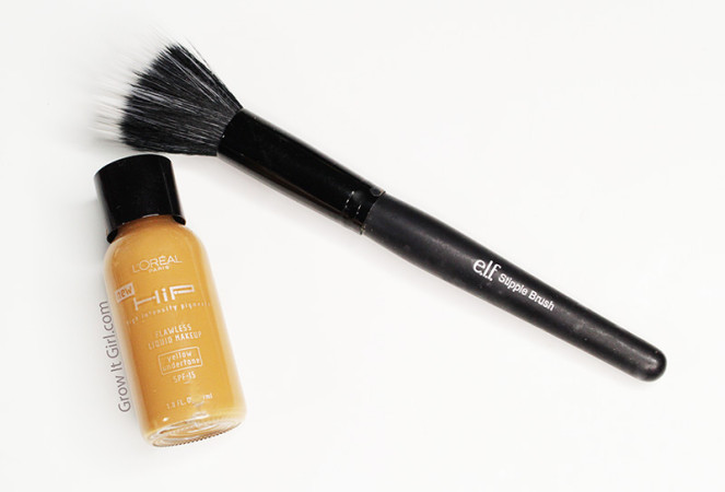 Beauty on A Budget L'oreal Hip Foundation and ELF Stipple Brush