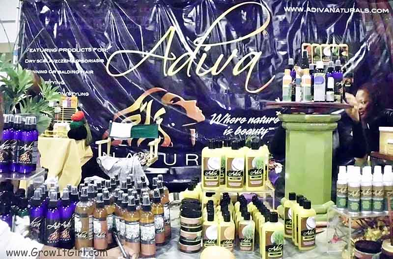 Adiva Naturals Booth Taliha Waajd Hair Show Atlanta
