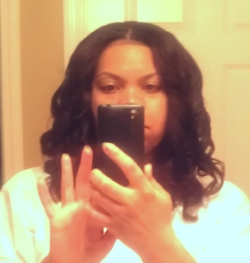 My hair curled after fighting my tangled hair