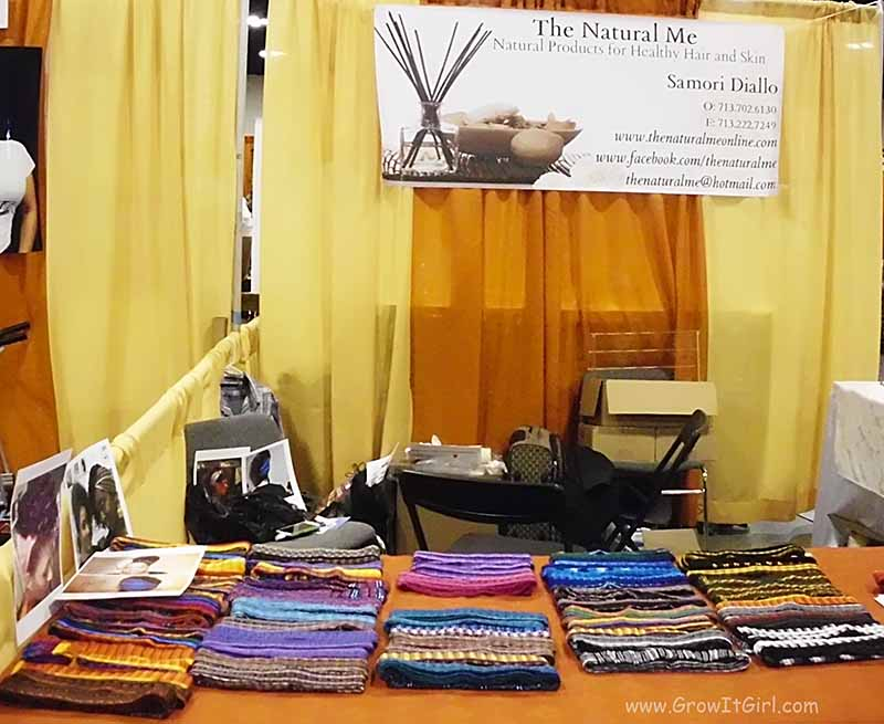 The Natural Me Headbands Booth Taliha Waajd Natural Health and Beauty Show