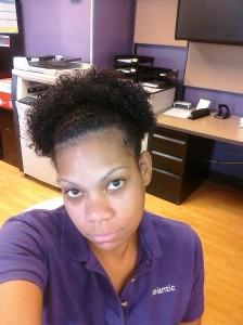 Natural hair before texlax