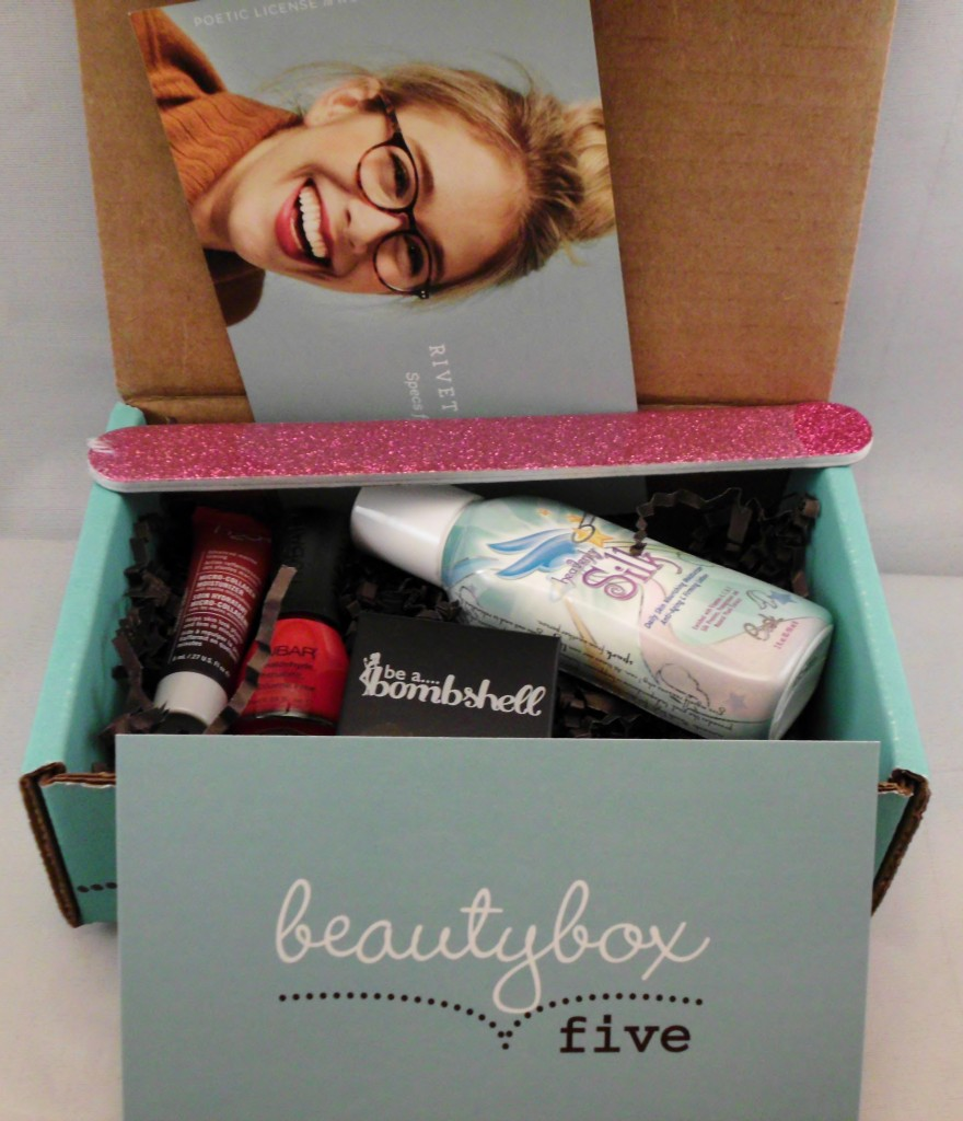 Full Contents of the beauty box 5 for august 2013