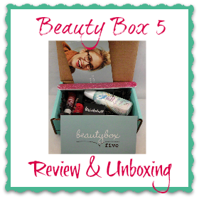 beauty box 5 for august 2013