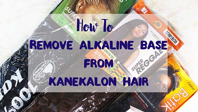 A video showing how to remove alkaline base from kanekalon hair that cause allergic reactions on the scalp when using synthetic hair. www.growitgirl.com