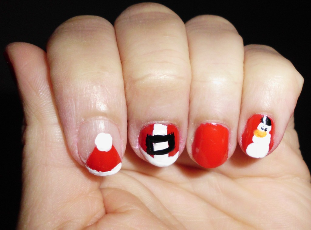 A fun manicure featuring a Christmas nail design theme just in time for the holiday. www.growitgirl.com