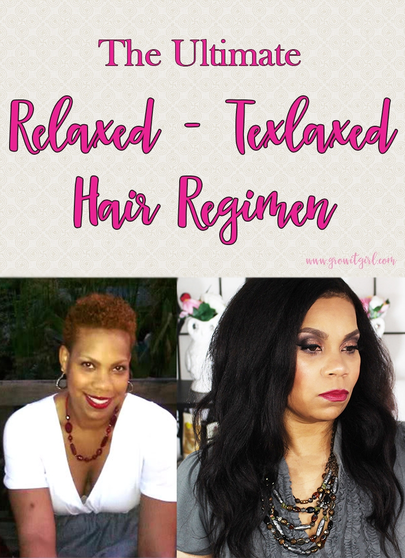 Big chop to hip length Texlaxed-Relaxed Hair Regimen