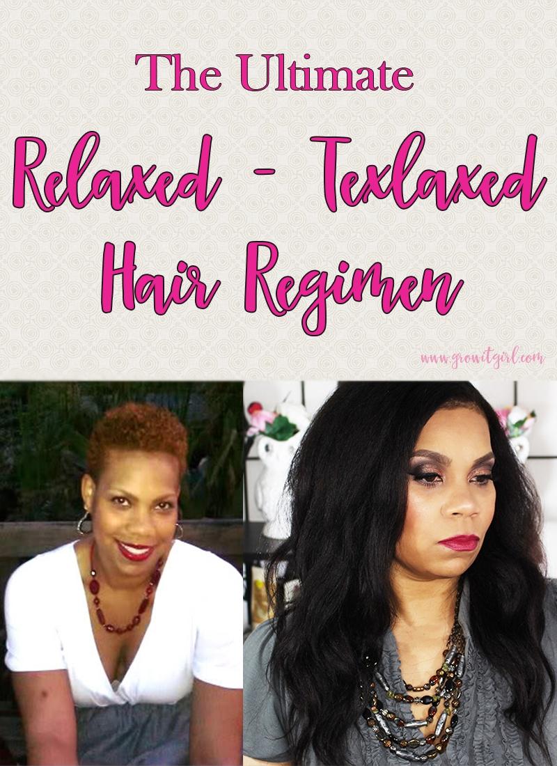 Big chop to hip length Texlaxed-Relaxed Hair Regimen