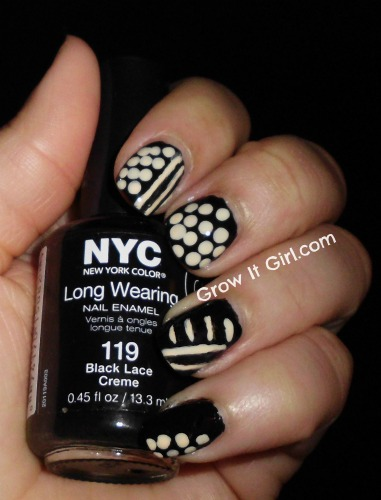 Polka Dots & Stripes manicure monday