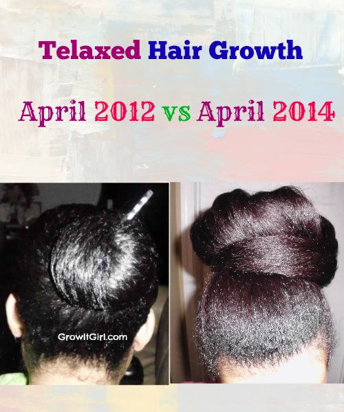 Telaxed Hair Growth April 2012 vs April 2014