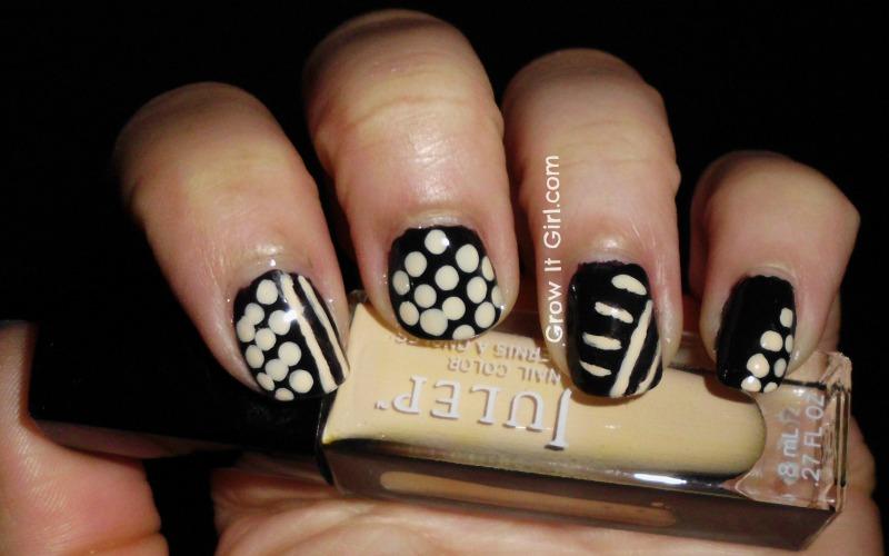 manicure monday Polka Dots & Stripes