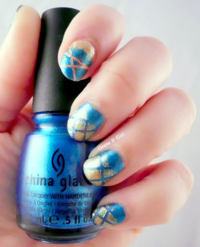 Manicure So Blue without You Base Color Nail Art