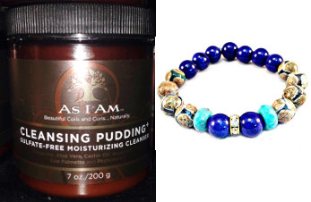welcome to summer giveaway as i am cleansing pudding & bracelet from i am dat natural