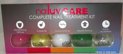 Nailuv Care complete nail treatment kit grow it girl