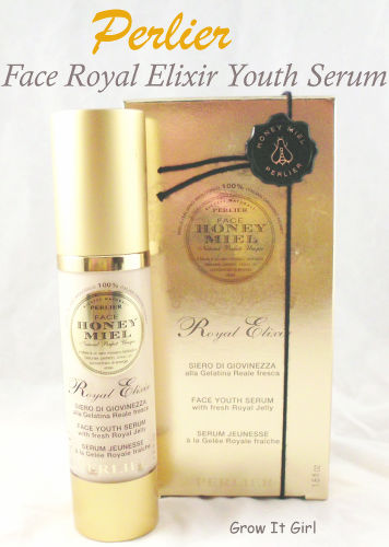 Perlier Face Royal Elixir Youth Serum box and bottle