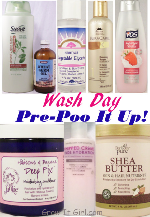 pre-poo step and wash day products used