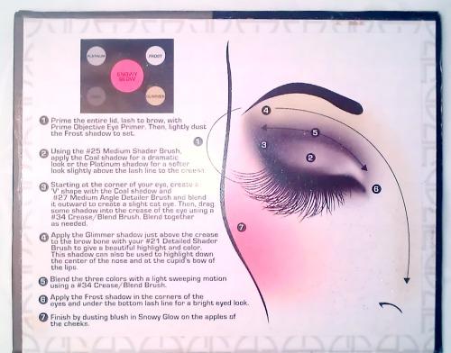 Look Chart Top Half of the Smokey Eye Palette