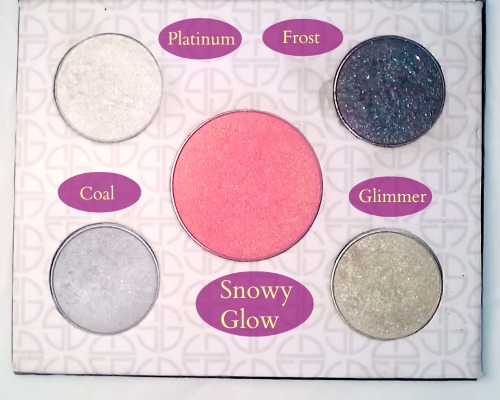 Labeled Colors of the Studio Gear Smokey Eye Palette