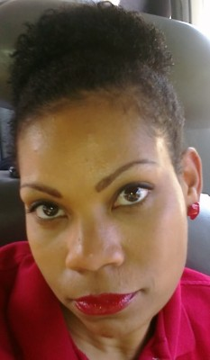 wearing at natural puff to work