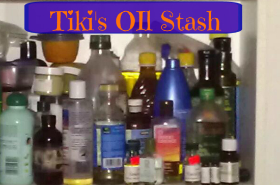 ceramide and oils in tiki's stash