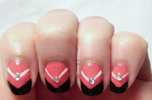 Nail Art using Evelyn & Crabtree Raspberry Nail Lacquer