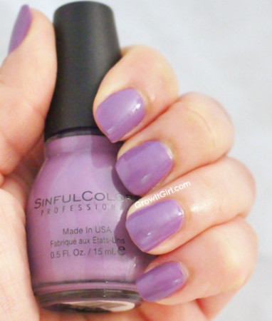 Sinful Colors Verbena bottle and swatch