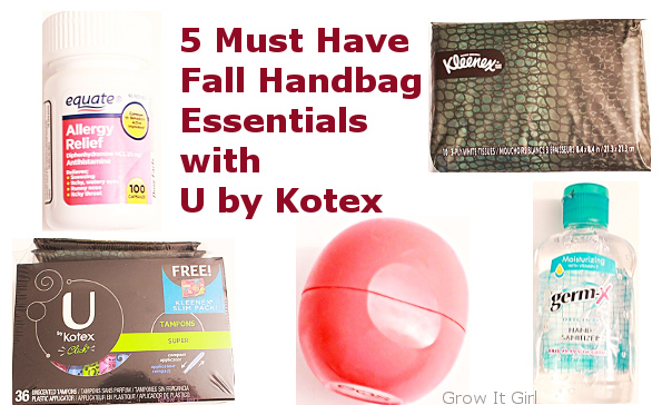 5 Must Have Fall Handbag Essentials with U by Kotex