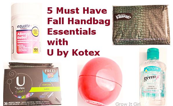 5 Must Have Fall Handbag Essentials with U by Kotex