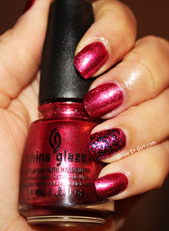 China Glaze Dash of Dazzle Set Santa Red My List Polish