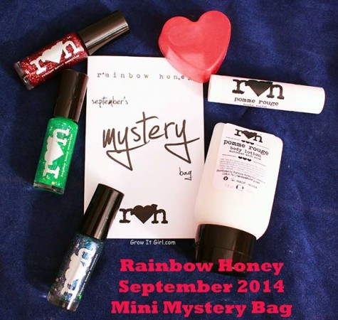 Rainbow Honey Mini Bag September 2014 Polishes and Bath and Body Products