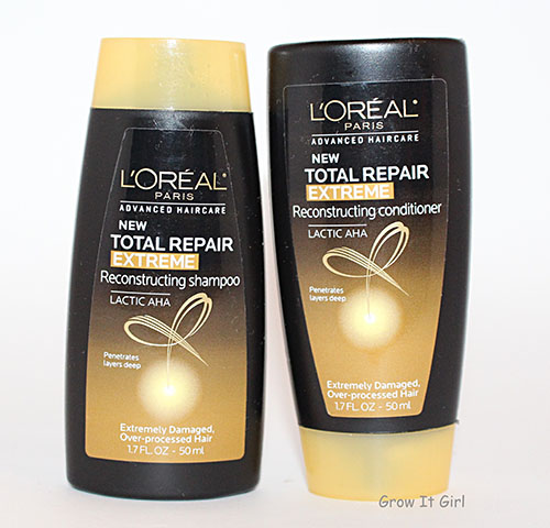 Detangling Post Braidout Using L'Oreal Total Repair Extreme Reconstructing Shampoo and Conditioner