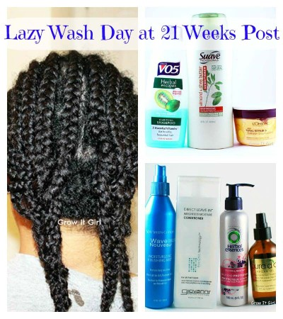 Lazy Wash Day at 21 Week Post