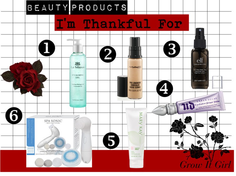 Beauty Products I'm Thankful For