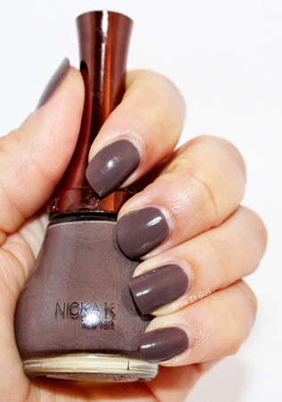 Manicure with Nicka K NY112 #NOTW Taupe Nail Polish