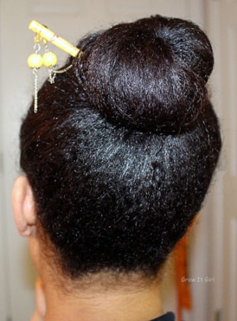 Wash Day Crossroads Hair Bun with Hair Stick