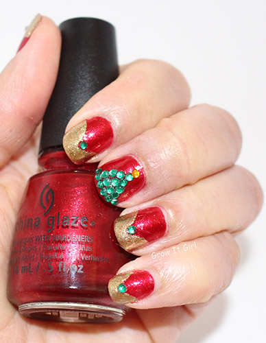Christmas Tree Manicure Just Be-Claws