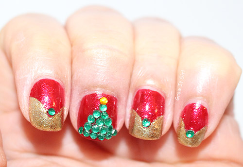 Christmas Tree Manicure | #NOTW