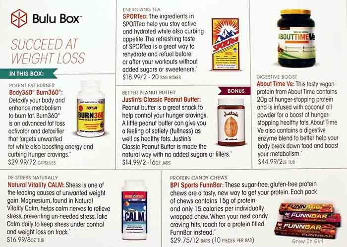 December Bulu Box Product List