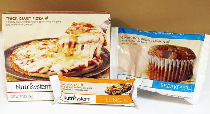 Nutristyem Fast 5 Day 5 Cinnamon Streusel Muffin, Trail Mix Bar and Thick Crust Pizza and Broccoli