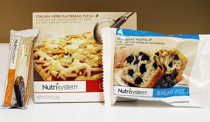 Nutrisystem Fast 5 Day 3 Blueberry Muffin, Chocolate Peanut Butter Bar and Italian Herb Pizza and Broccoli