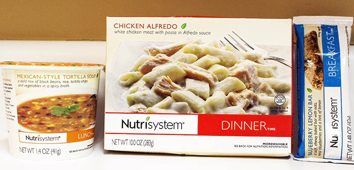 Nutrisystem Fast 5 Day 6 Blueberry Lemon Bar, Mexican Style Tortilla Soup and Tomatoes and  Chicken Alfredo and Broccoli