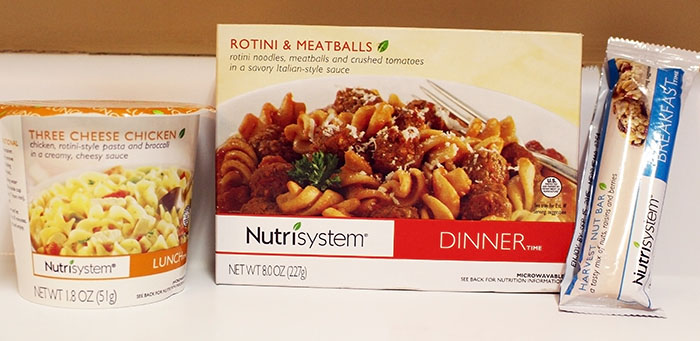 Nutrisytem Fast 5 Rotini and Meatballs, Three Cheese Chicken, and Harvest Bar