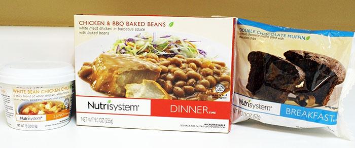 Nutrisytem Fast 5 Day 7 Double Chocolate Muffin,  White Bean Chicken Chili and Broccoli and Chicken & BBQ Beans and Broccoli