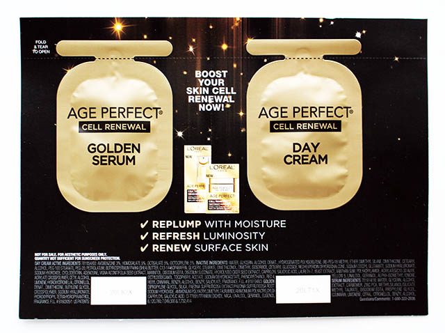 L'oreal Age Perfect Golden Serum and Day Cream