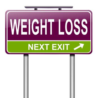 Weight Loss Ahead Roadsign