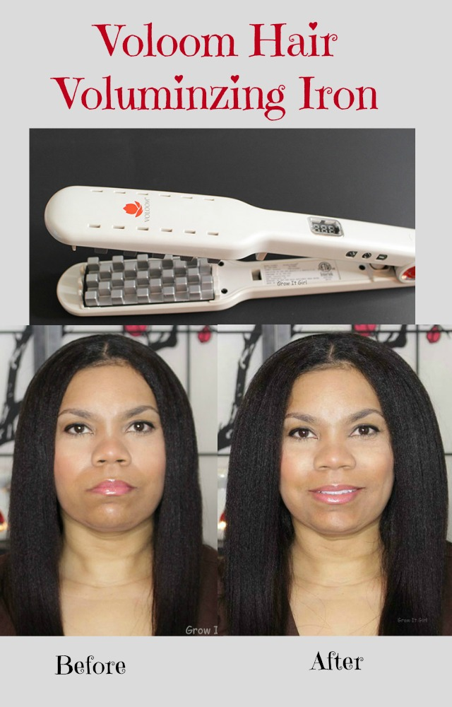Voloom Hair Volumizing Iron Before and After