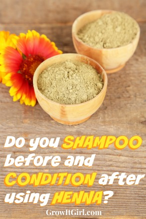 Shampoo and Condition when using Henna