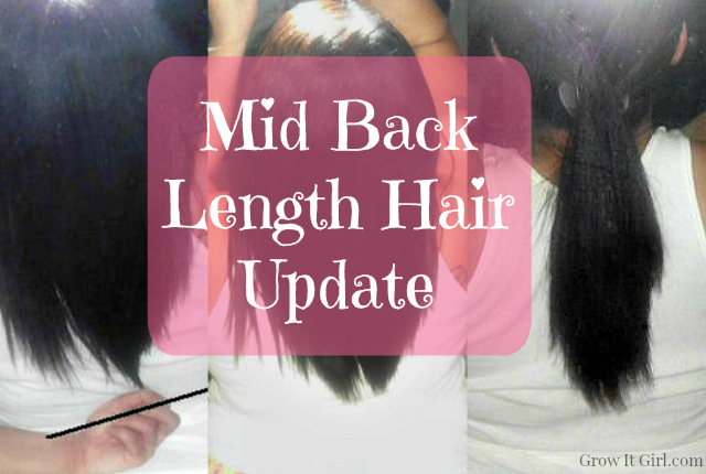 Mid Back Length Hair Update and Length Check